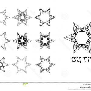 300x300 Stock Illustration Set Vintage Graphic Star David Jewish Six