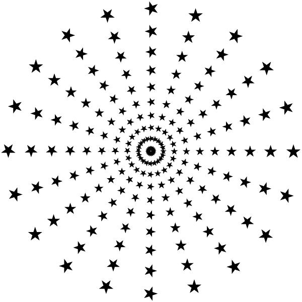 600x600 Vector Halftone Star Patterns Illustrator Star Vector