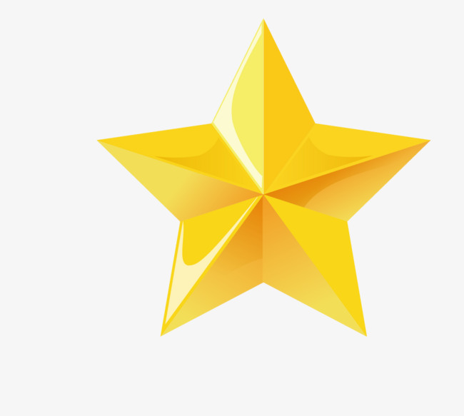 650x583 Five Pointed Star Vector, Star Vector, Five Pointed Star, Yellow