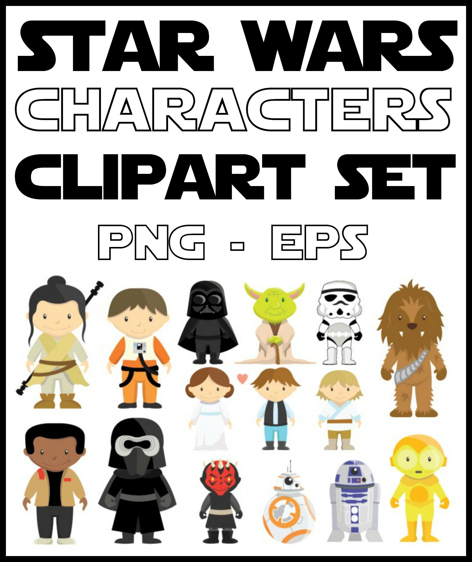 1590x1891 Star Wars Characters Clipart Set New Star Wars Clipart And