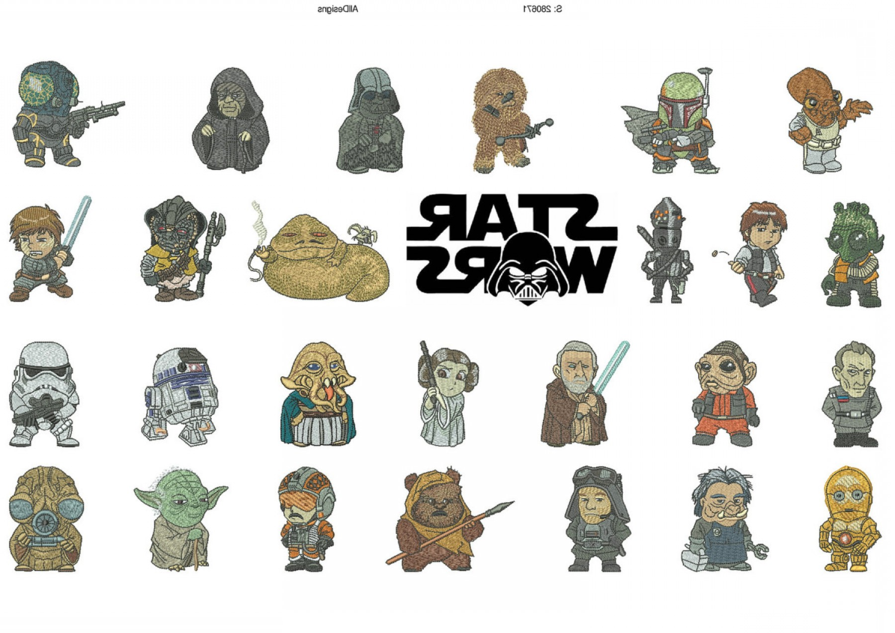 1800x1272 Star Wars Z Characters Alphabet Machine Embroidery Designs