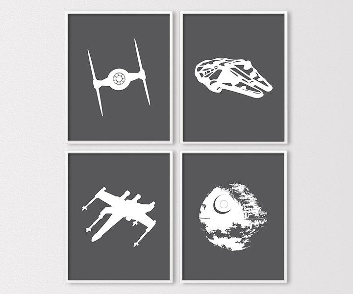 720x600 Star Wars Wall Art Star Wars Prints Star Wars Nursery Etsy