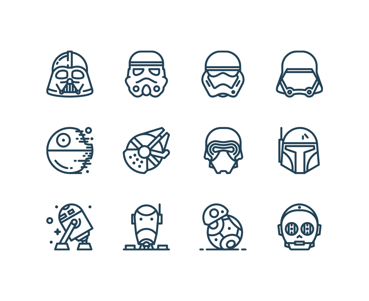 1200x980 Free Star Wars Icons Freebies Amp Deals For Graphic Designers