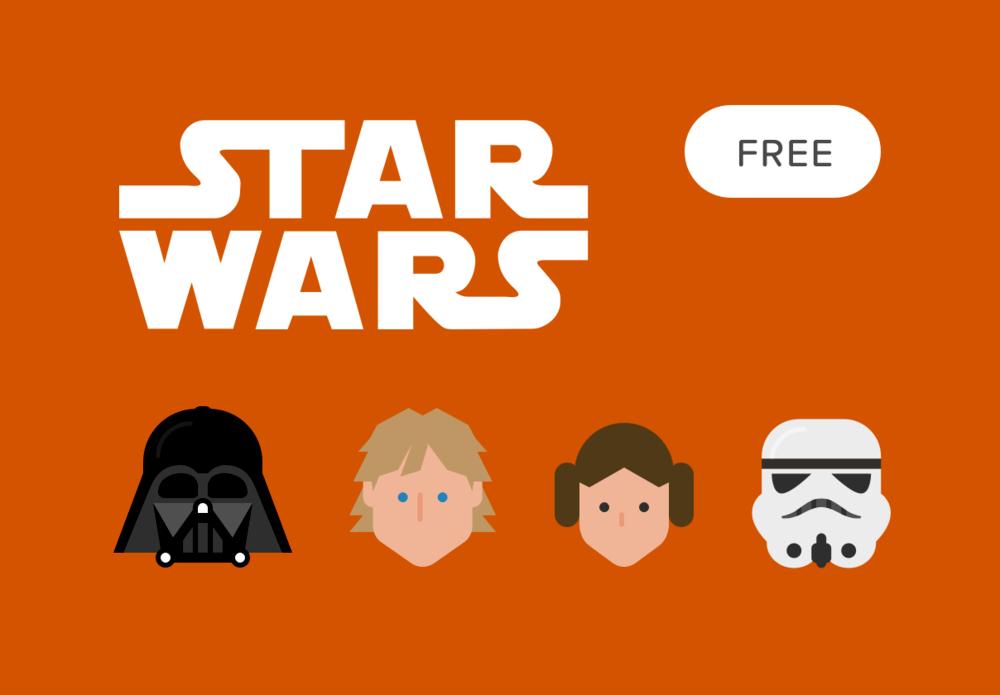 1000x695 Star Wars Free Vector