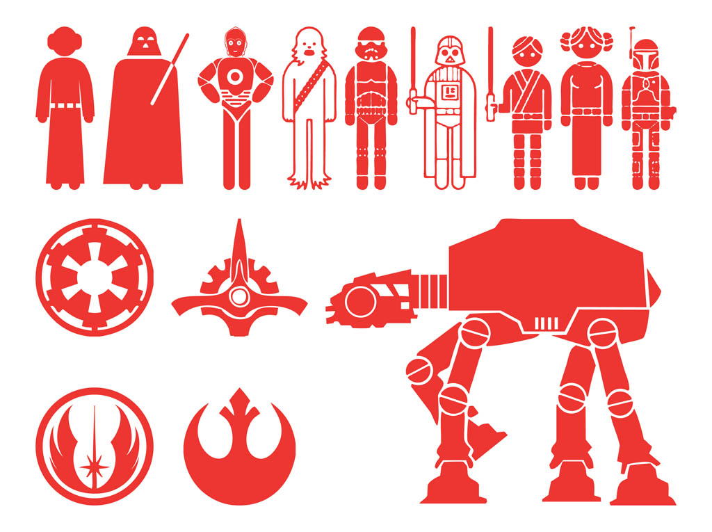 1024x765 Star Wars Characters Silhouettes Free Vectors Ui Download