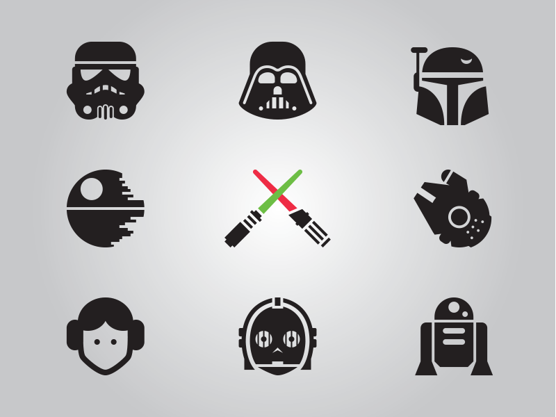 800x600 Star Wars Glyphs, Updated By Jory Raphael