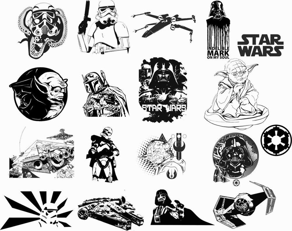 1000x791 Star Wars Car Vinyl Sticker Auto Decals Vectors Free Vector