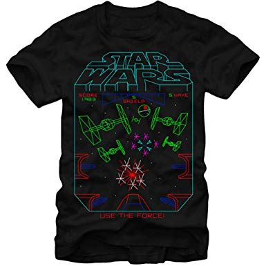 385x385 Star Wars Vector Arcade Game T Shirt Clothing