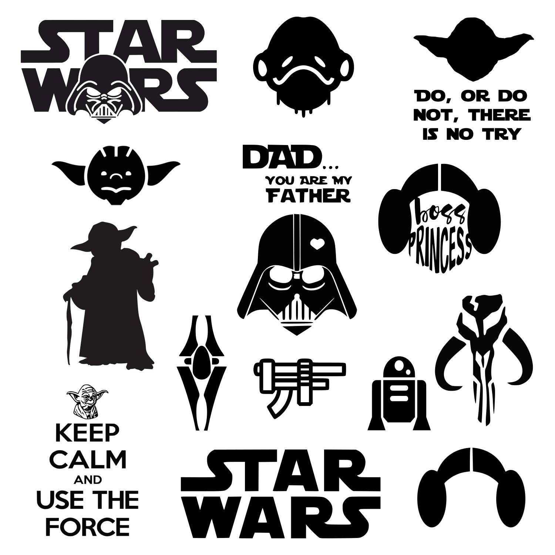 1500x1500 Star Wars Svg Darth Vader Svg Master Yoda Svg Princess Leia Etsy