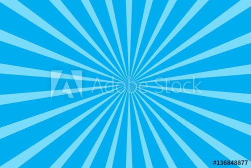500x334 Blue Radial Starburst Background Vector Illustration