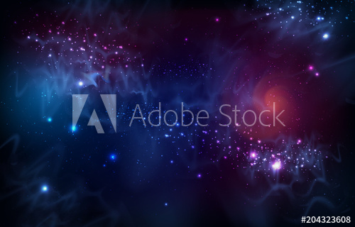 500x320 Abstract Open Space Background. Starfield, Universe, Nebula In