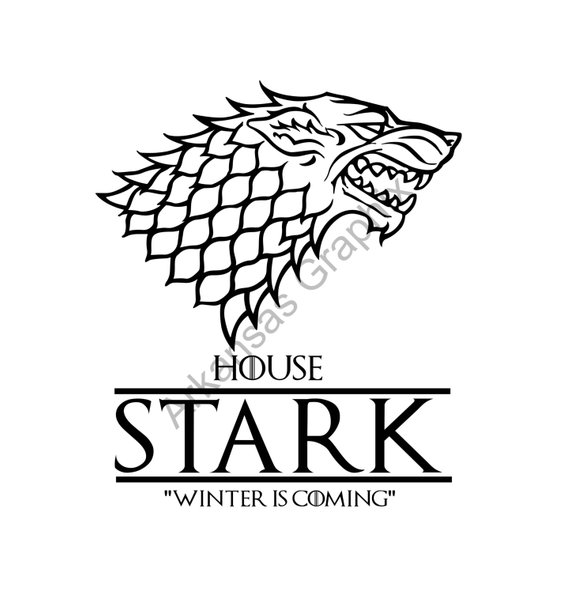 570x593 Game Of Thrones House Stark Vectorcuttable Files Eps Ai Pdf Etsy