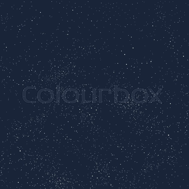 800x800 Universe Filled With Stars. Blue Starry Sky Vector Background