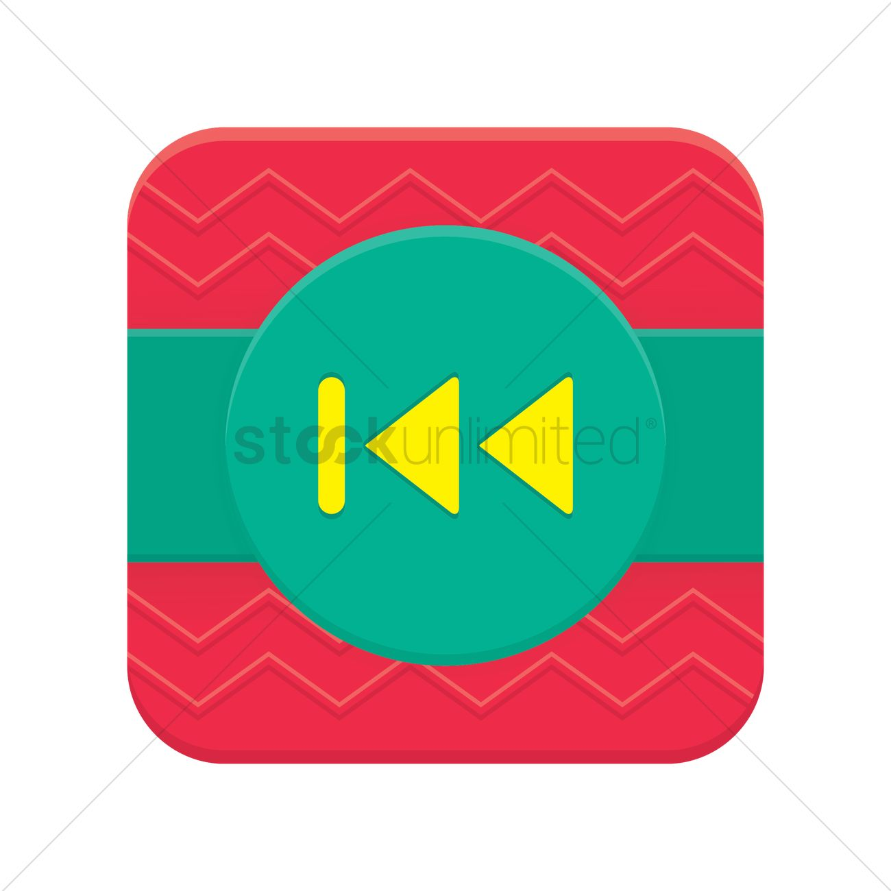 1300x1300 Rewind To The Start Button Vector Image