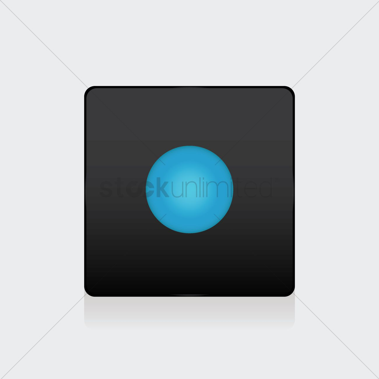 1300x1300 Start Button Vector Image