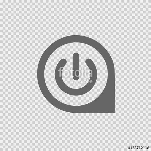 500x500 Power Button Vector. Start Vector Icon. Vector Eps 10 On