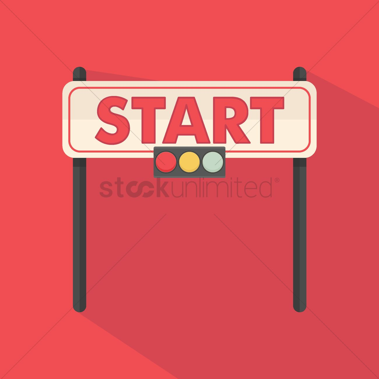1300x1300 Start Line Banner Vector Image