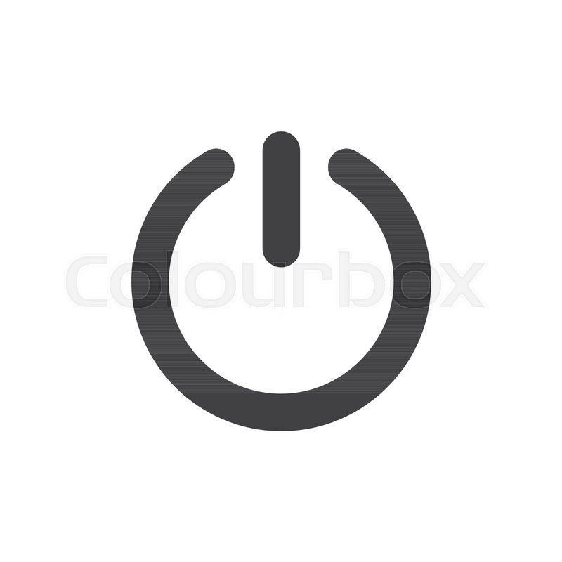 800x800 Start Power Button Icon Vector, Filled Flat Sign, Solid Pictogram