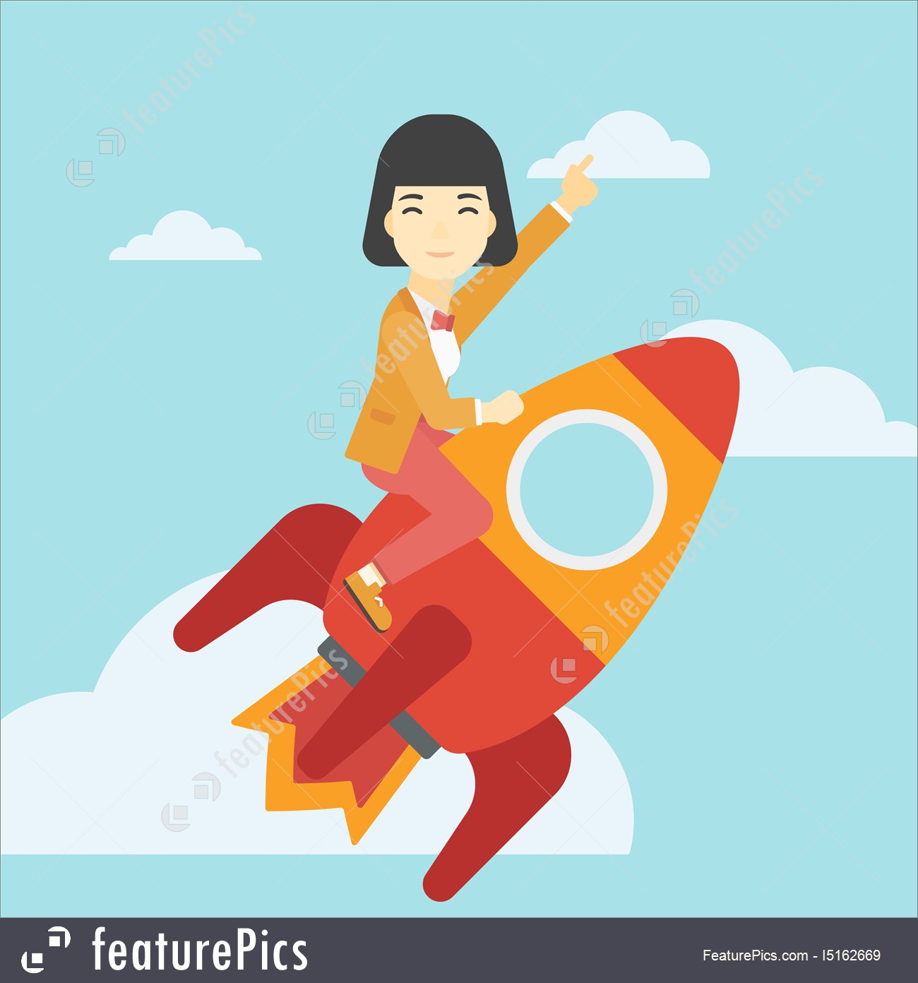 1300x1392 Business Start Up Vector Illustration. I5162669