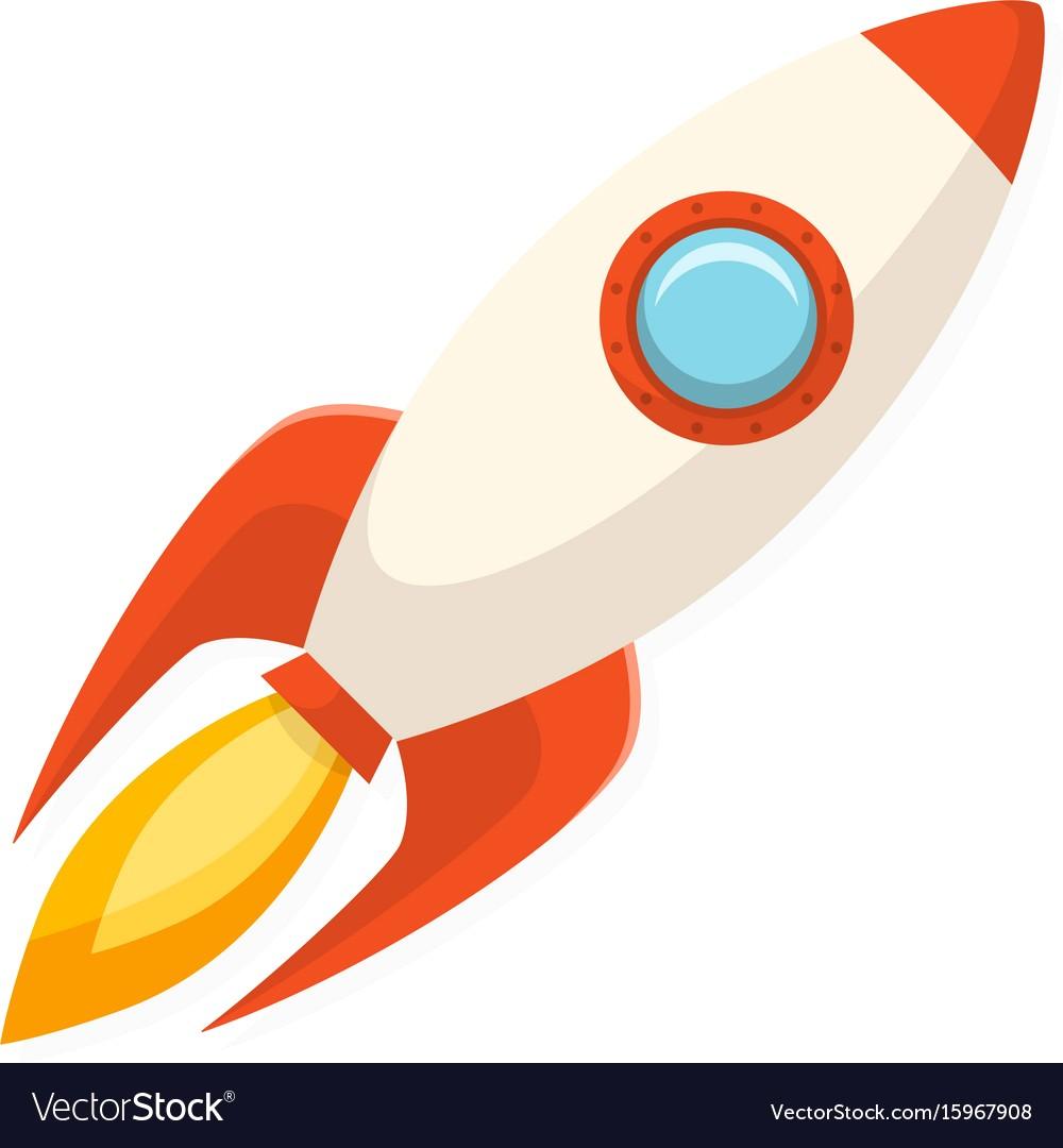 1000x1080 Cartoon Flat Design Rocket Ship Symbol Of Start Vector 15967908 11