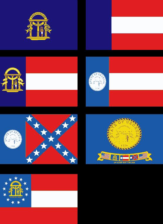 555x763 Georgia State Flag Vector