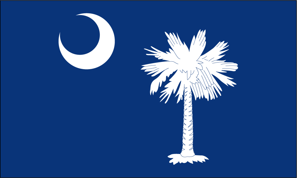 1024x615 South Carolina Flag Vector Group With Items