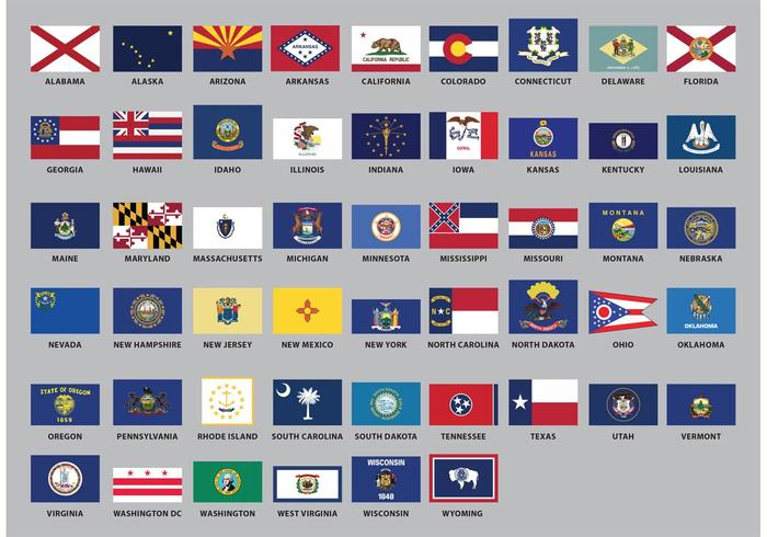 700x490 Us State Flag Vectors