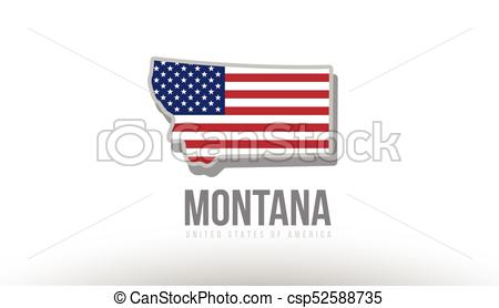 450x278 Vector Illustration Of Montana County State With United States
