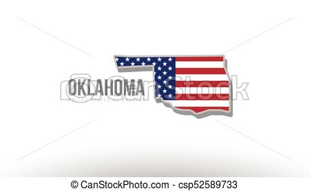 450x278 Vector Illustration Of Oklahoma County State With United States