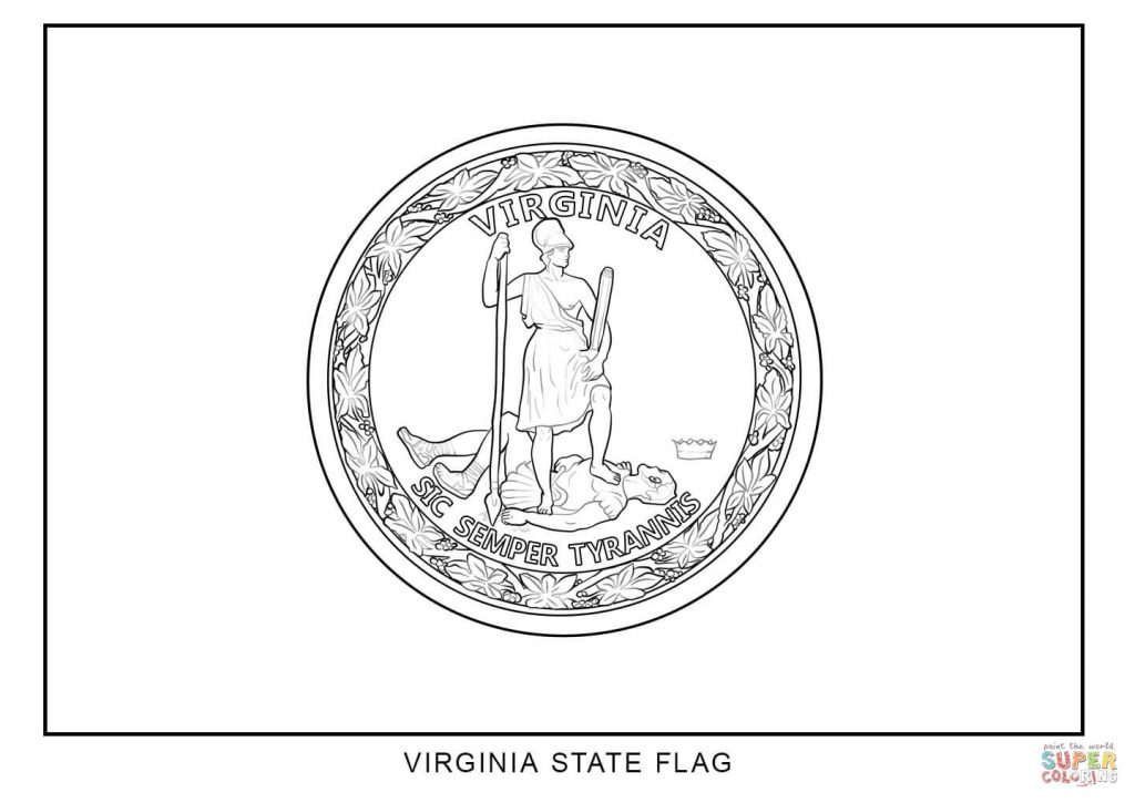 1024x725 Charming Inspiration Virginia State Flag Coloring