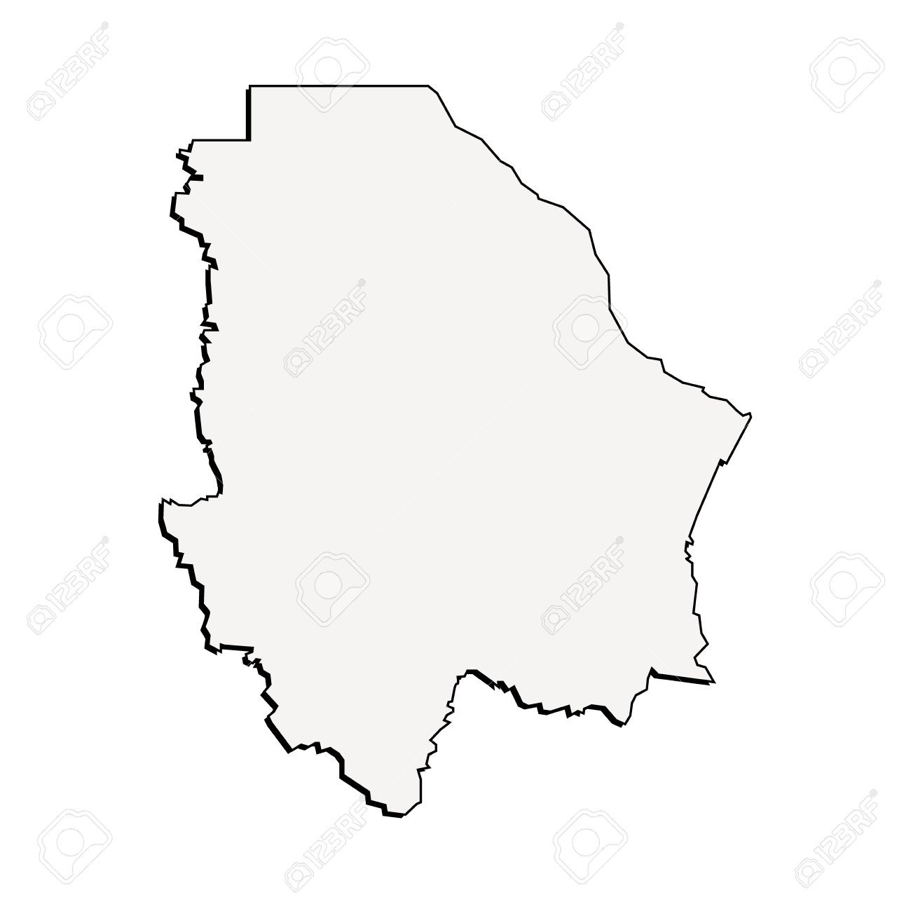 1300x1300 65636924 3d Chihuahua Mexico State Map Vector Outline 7