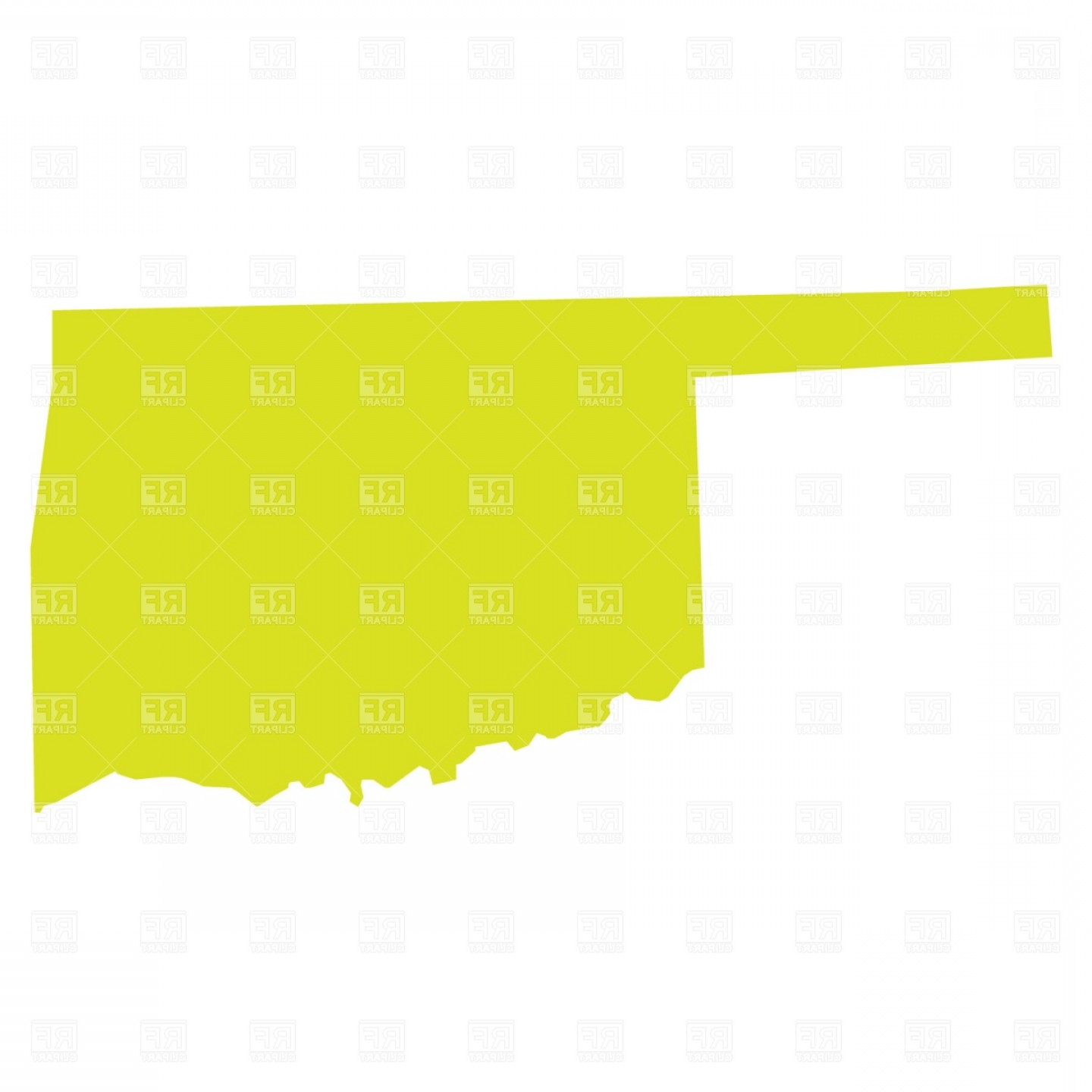 1440x1440 Oklahoma State Map Vector Clipart Arenawp