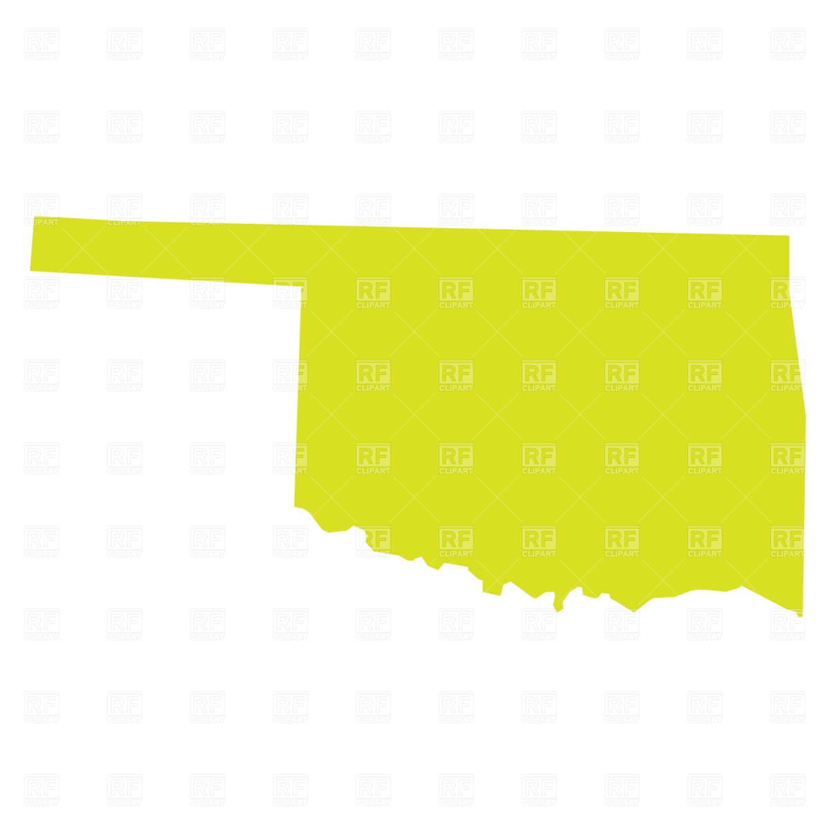 1200x1200 Oklahoma State Map Vector Image Vector Artwork Of Signs, Symbols
