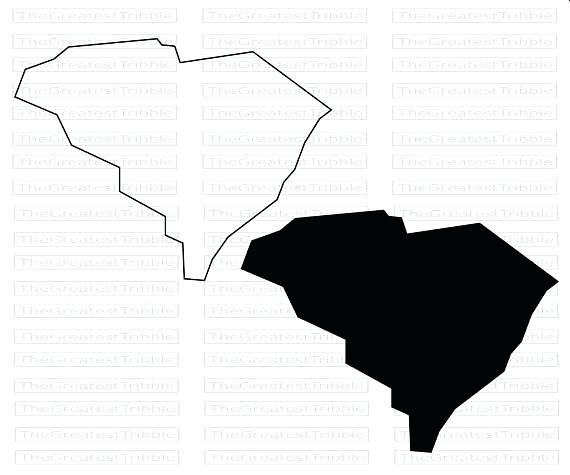 570x475 South State Map Vector Graphic Clip Art Outline Silhouette From On