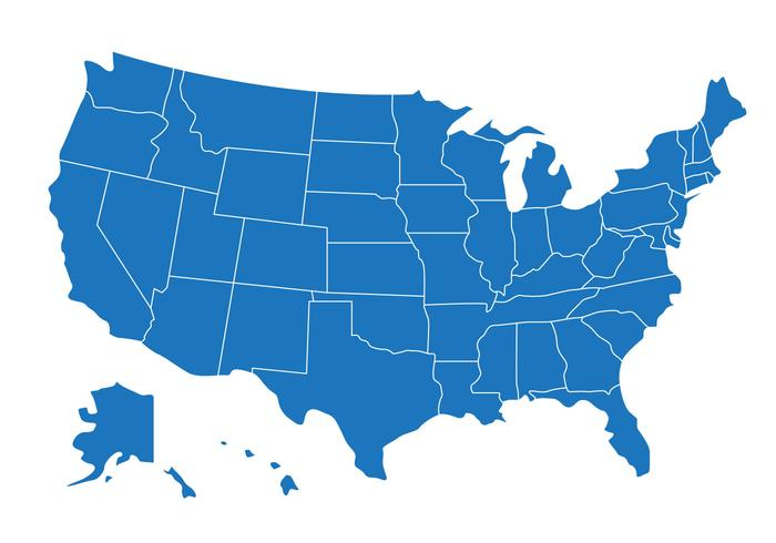700x490 State Map Of Us Vector