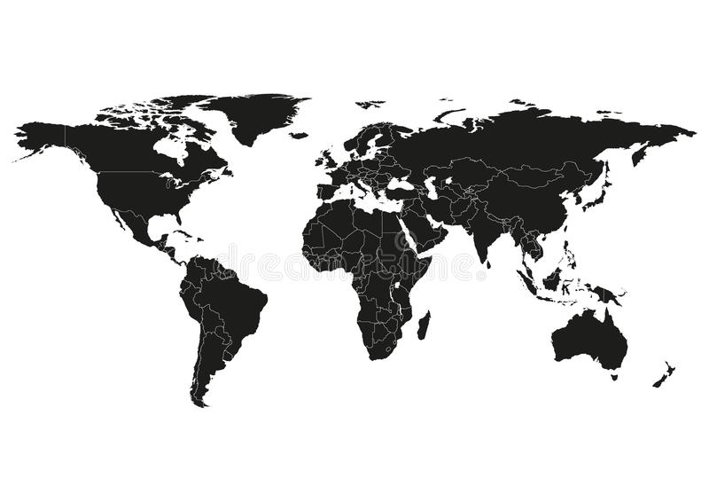 800x566 Canada Map Silhouette World State Map Vector Silhouette Stock