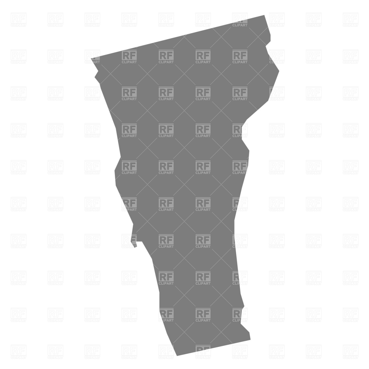 1200x1200 Vermont State Map Vector Image Vector Artwork Of Signs, Symbols