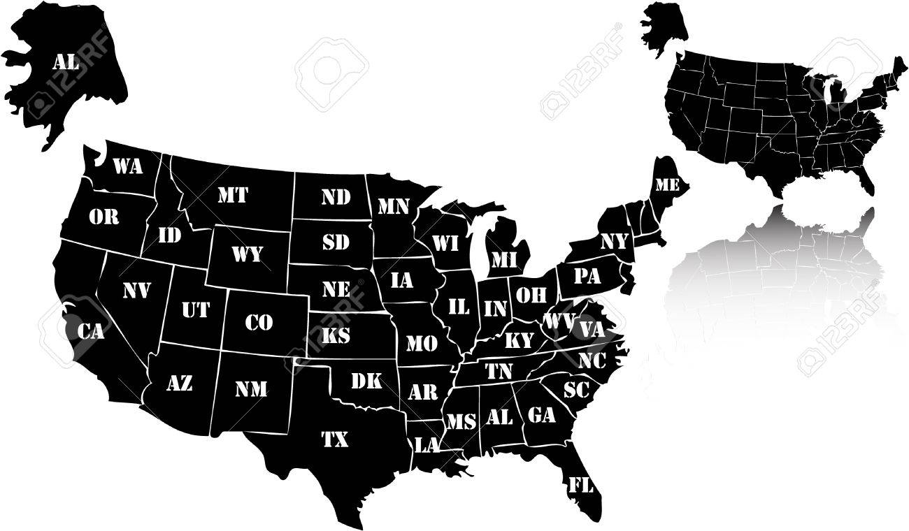 1300x760 Free Vector Us Map Usa Map Vector Free Us Maps Usa State Maps