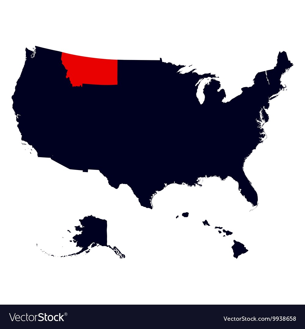 1000x1080 Montana State In The United States Map Vector 9938658 20