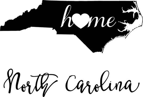 570x386 North Carolina State Map Digital File Svg Png Jpg Eps Vector Etsy