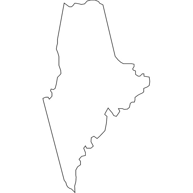 660x660 Outline Vector Map Of Illinois