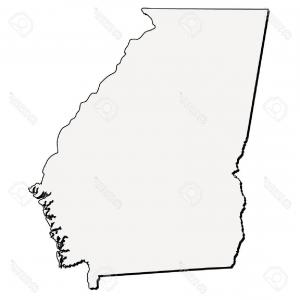 300x300 Photostock Vector Vector Georgia State D Outline Map Sohadacouri