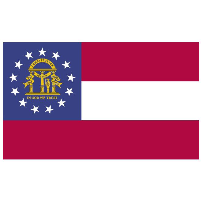 660x660 Georgia Secession Vector Flag