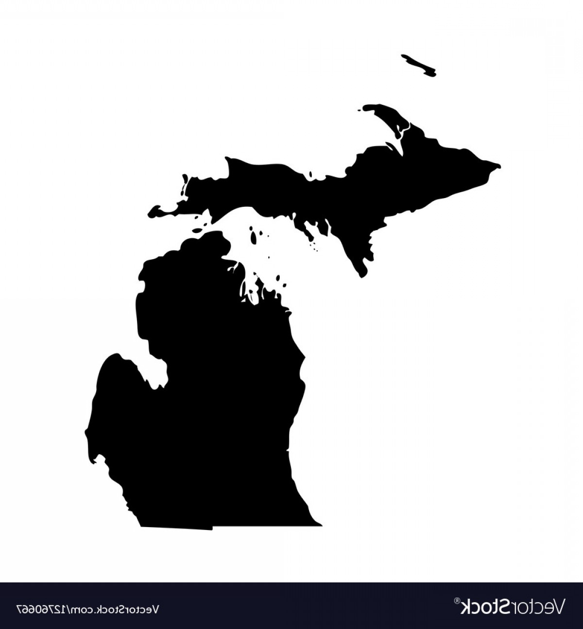 1200x1296 Map Of The Us State Michigan Vector Shopatcloth