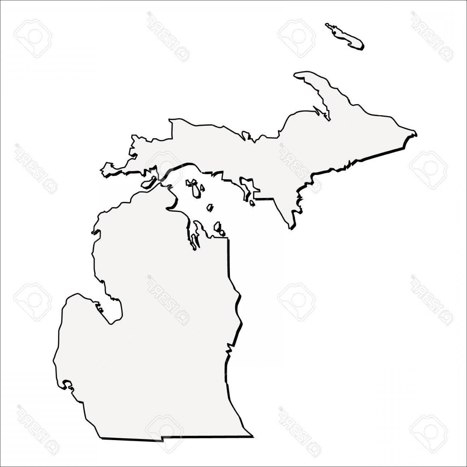 1560x1560 Michigan Outline Vector Geekchicpro