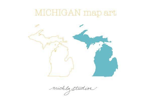 580x386 Michigan Vector Amp Png Map Art