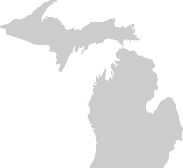 600x550 Michigan Vector