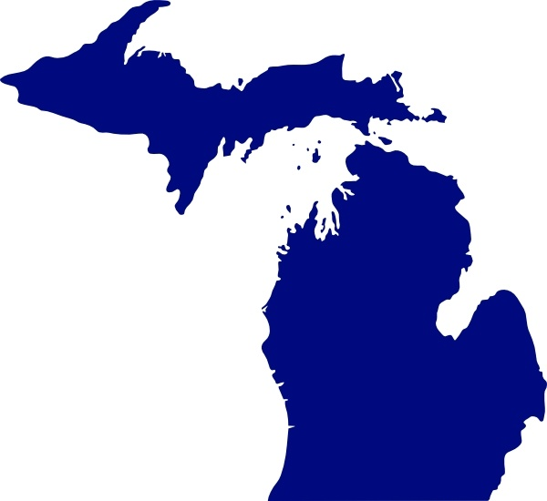 600x550 State Of Michigan Clip Art Free Vector In Open Office Drawing Svg