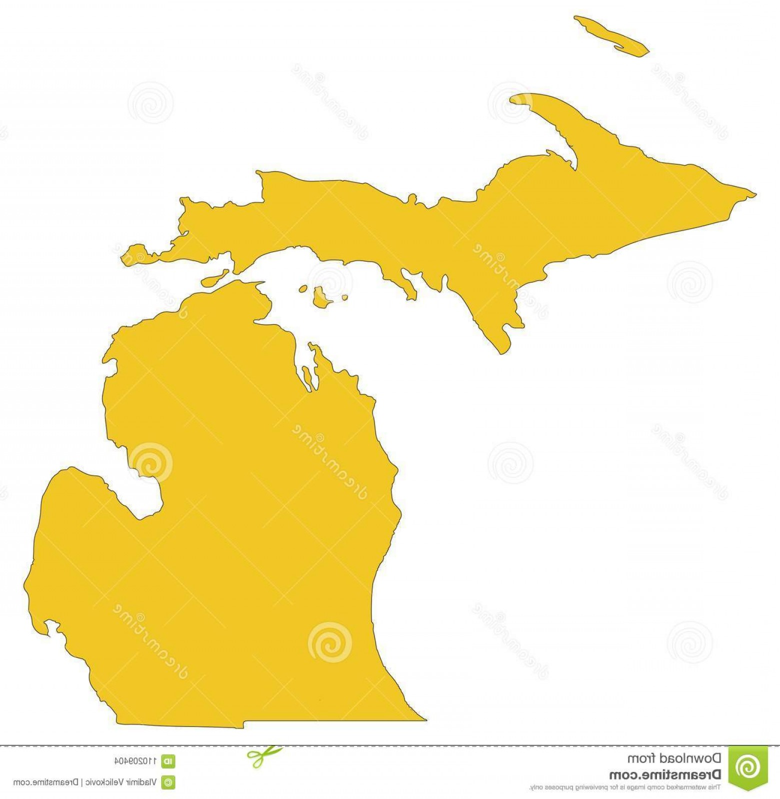 1560x1597 Vector File Michigan Map State Great Lakes Midwestern Regions