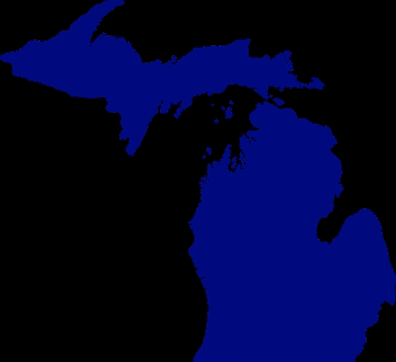 786x720 Free Vector Graphic Michigan Map State America Free Image On State